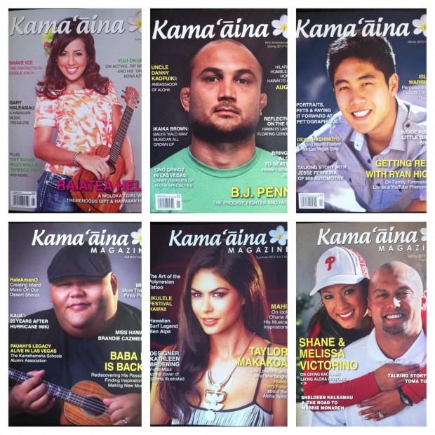 Past Kama'aina Magazine covers
