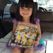 Bella & the current issue of Kama'aina Magazine