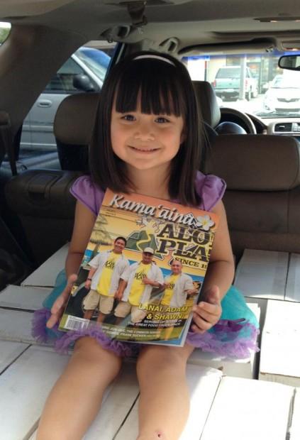 Bella & the current issue of Kama'aina Magazine